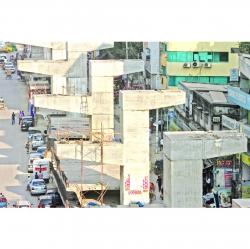 মগবাজার-মৌচাক ফ্লাইওভারে দুর্ভোগ কমবেনা, বাড়বে : ত্রুটি সংশোধনে ভাঙতে হবে ৬০টি পিলার